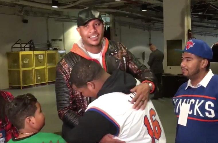 Баскетболист «Нью-Йорк Никс» Энтони подарил машину онкобольному подростку