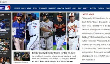 Сайт МЛБ: какие возможности дает интернет-мекка бейсбола