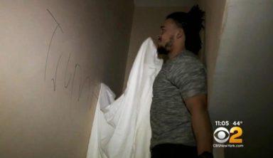 Воры ограбили дом игрока НФЛ и нарисовали на стенах свастику