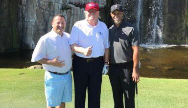 Тайгер Вудс сыграл в гольф с Дональдом Трампом. Не голый
