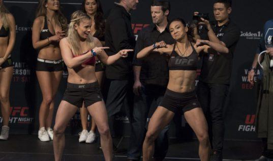 Девушки-бойцы UFC устроили танцевальный батл на взвешивании (видео)