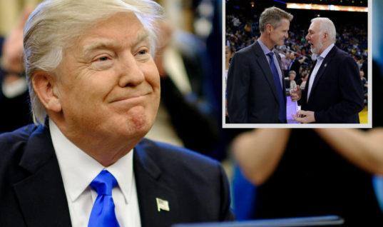 Стив Керр и Дональд Трамп