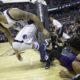 Фанат пытался сделать селфи с упавшим рядом с ним баскетболистом