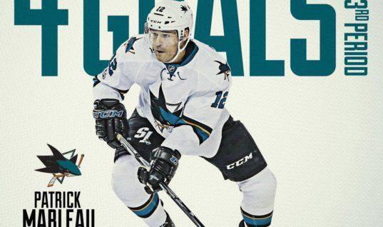 Патрик Марло — первый хоккеист НХЛ за 20 лет, забросивший 4 шайбы за период