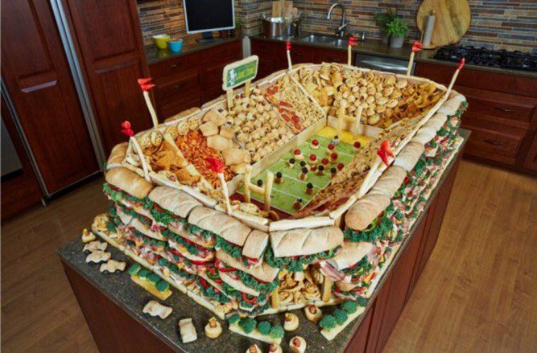 мини-стадионы из еды Супербоул