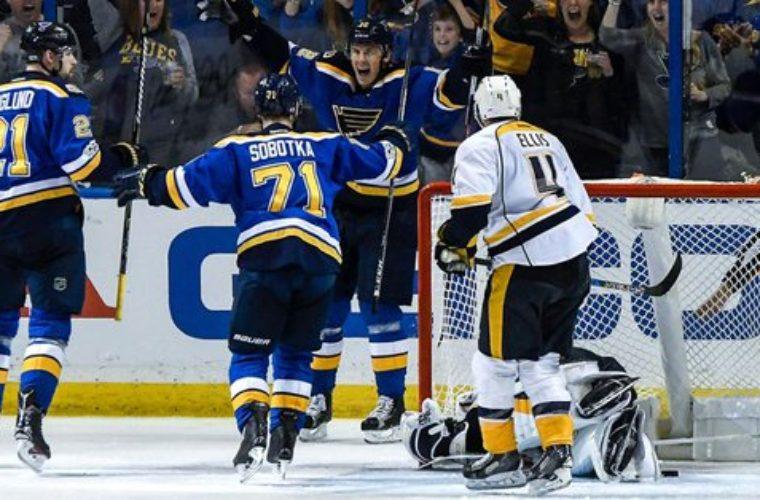 «Нэшвилл» обыграл «Сент-Луис» ивышел вполуфинал плей- офф НХЛ