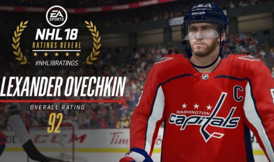 В NHL 18 Овечкин — лучший левый нападающий