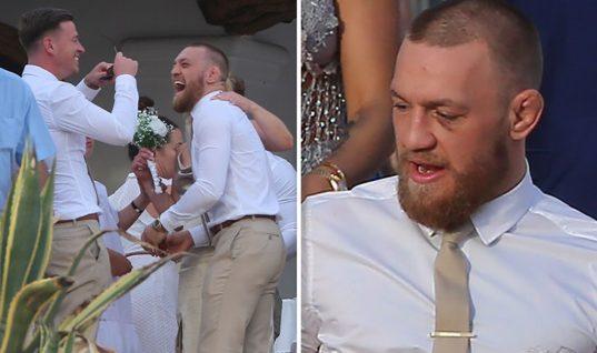 Спустя неделю после боя с Мейвезером Макгрегор оторвался на свадьбе друга