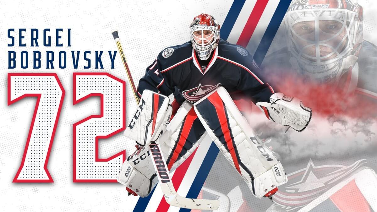 Вратарь «Коламбуса» Бобровский признан первой звездой победного матча НХЛ против «Баффало»