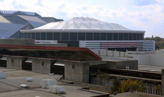 """В Атланте с помощью взрыва уничтожили старый стадион """"Фэлконс"""""""