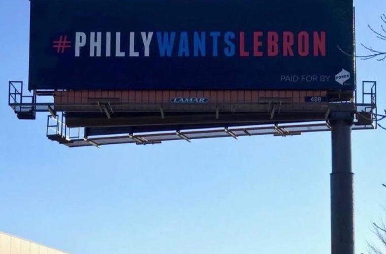 Компания из Филадельфии пытается заманить Джеймса с помощью билбордов