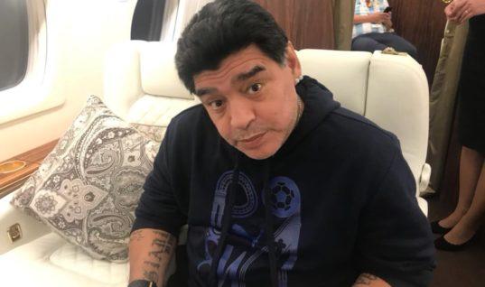 Марадона получает за посещение ЧМ-2018 10 тысяч фунтов в день