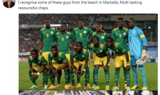Британского миллиардера обвинили в расизме после шутки про сборную Сенегала