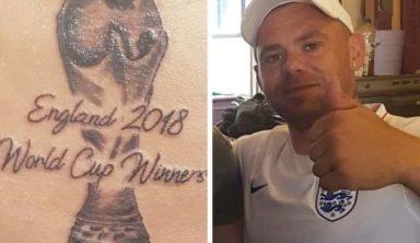 Болельщики Англии заранее сделали татуировки в честь победы на ЧМ-2018