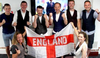 Англичане устроили флешмоб в день матча с Хорватией