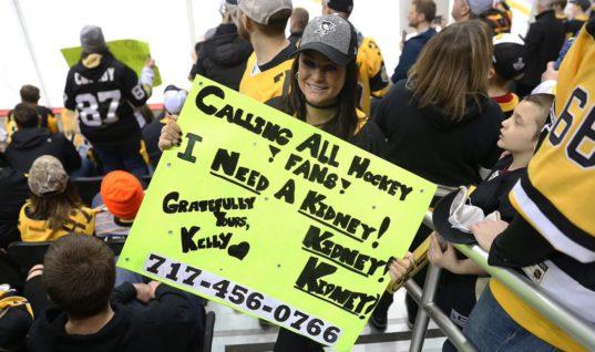 "Фанатка ""Питтсбурга"" нашла донора благодаря плакату на игре НХЛ"