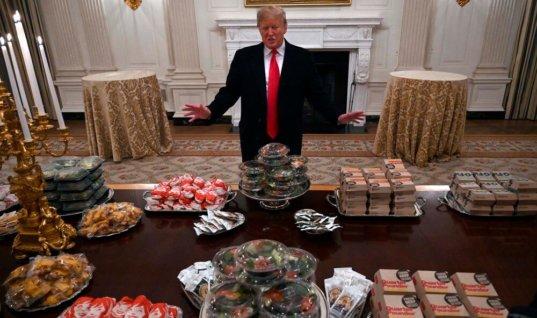 Трамп потратил на бургеры для футболистов менее 900 долларов