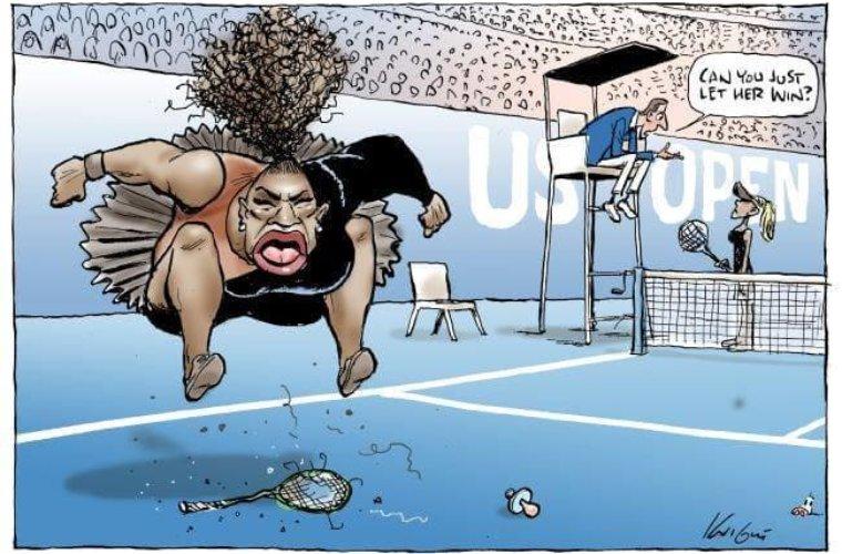 Карикатуру на Серену Уильямс признали допустимой