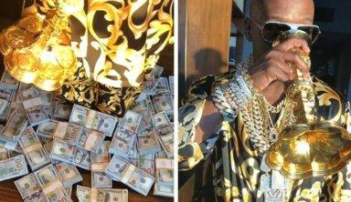 Мейвезер похвастался золотой чашей, деньгами и бриллиантами