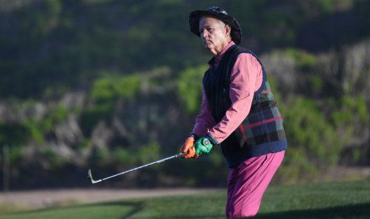 Билл Мюррей повеселил болельщиков на турнире по гольфу