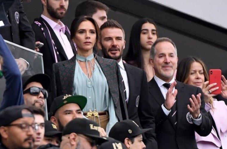 Семья и звёзды поддержали Бекхэма на первом матче его клуба МЛС